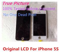 For Apple iPhone LCD Screen Panels 5SLCD009 100% Original For iPhone 5S LCD Display Touch Screen Digitizer Replacement Parts LCD Digitizer for iphone 5s Free Shipping