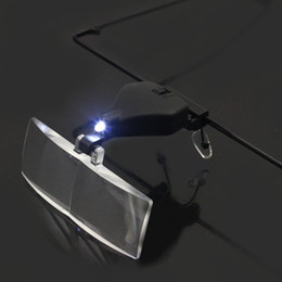 Wholesale Hands Free Glass LED Lamp Light Magnifier for Reading Surgery w L Best price