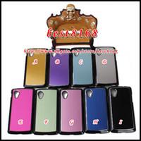 Wholesale Bling Brushed Metal CD Grain Hard Plastic Case For LG Google Nexus E980 D820 Alloy Shiny Aluminum skin cover Cases