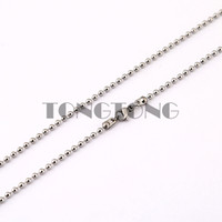 Chains Slides, Sliders Coin 30 inches (75cm) Silver 316L Stainless Steel Ball Chain Necklace for Floating Charm Locket