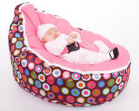 Wholesale Hot Promotion Baby chair baby bean bag hot sell pink dot beanbag chair without filling