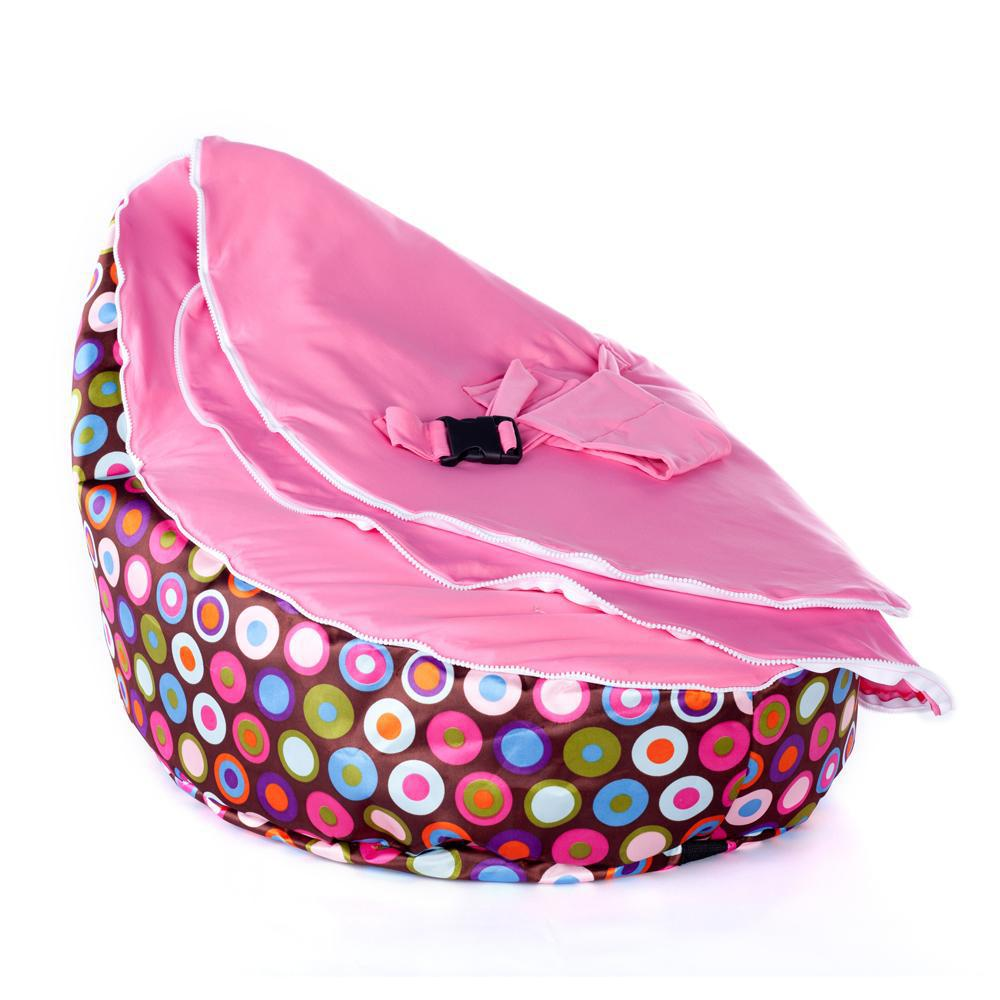 Baby bean bag hot sell pink dots beanbag chair without filling baby