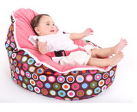 Wholesale Hot Promotion Baby seat baby bean bag pink top dots beanbag chair without filling