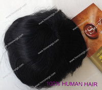Wholesale fast delivery super thin skin inch Indian remy human hair toupee hair wigs for men
