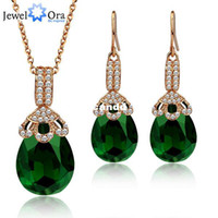 Cheap Crystal Gold Plated Party Jewelry Sets For Women Jewelora #JS100416 New Items 2014 Necklace Earrings