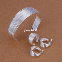 bangles stand - high quality Sterling silver fashion jewelry Multi Stands Ring Earrings Bangle Jewelry Set S312