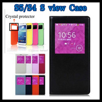 Flip Cover Leather S view open window wake sleep Case For Sa...