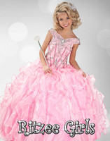 Reference Images Girl Beads 2014 Princess Pink Pageant Dresses For Girls Floor Length Little Girls Pageant Dresses Ball Gown Flower Girl Dresses Pageant Cupcake Dresses