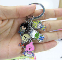 Wholesale 2 cm Dragon Ball Uubu Metal Doll Keychain Pendant Cartoon Toys Keyring