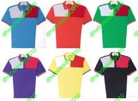 Men Cotton Polo 2014 New brand Top quality Polyester+Cotton sport polo shirt Short-sleeve fashion men's T-shirt 6 colors M-XXL Free Shipping T016-2