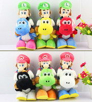 Wholesale Anime toy Hot sale Riding Yoshi quot Super Mario Bros mario Luigi Plush Doll Retail EMS