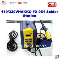 brand new digital rework station - Freeshipping HAKKO FX soldering station digital display Lead free solder station bga welding machine rework station