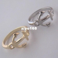 Wholesale New arriva fashion jewelry anchor finger rings mix color high quality for women mix different goods R540