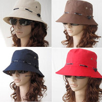 Wholesale 8 Colors Unisex Summer Fashion Outdoor Fisherman Hat Basin cap Bucket Hat Foldable Sun Beach Hat Top hat
