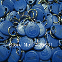 Wholesale 100pcs Khz RFID Proximity ID Card Keyfobs Tag Token Key Ring Proximity ID Card