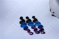 Chinese Hair Body Wave Ombre Color Oxette dip dye Blue purple Ombre Body Wave Malaysian Human Ombre 2014 Hot Sale Human Hair Weave wavy Multi color Unprocessed Hair Weft