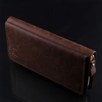 Wholesale New listing fashion casual men s leather nubuck leather clutch purse multicolor single pull two open multi