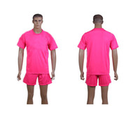 Wholesale Club Team Away Pink Mens Soccer Jersey Short Kits Sets Sportswear SZ S XL able customize name number logo