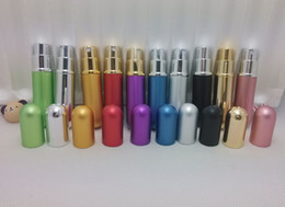 Wholesale New Refillable Empty Atomizers Travel Perfume Bottles Spray Makeup Aftershave Colorful Metal Bottle ML Colors DHL