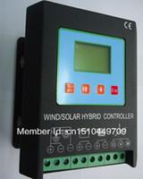achat en gros de régulateurs de charge hybrides-Contrôleur solaire de charge hybride solaire de vent 1600W 24v (1000W Wind + 600w solaire) Fonction de freinage et de déchargement électronique