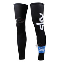 Leg Warmers Adult (Men) S-XXL 2014 SKY PRO TEAM BLACK S09 Cycling Sport Leg Warmers Sleeve Spandex Coolmax Lycra UV Protection Size:S-XXL