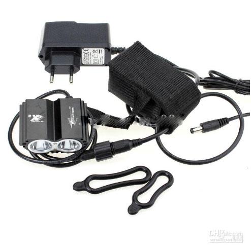 Buy Free DHL,5SolarStorm X2 Bike Light 2*CREE XM-L U2 4 Modes LED 2000LM Dual Head Bicycle light/bicycle front light + 4*18650 Battery Pack