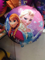 Wholesale Cartoon Aluminum Happy Birthday Decoration Frozen Princess Queen Anna Round Balloon for Kids Party Supplies Foil Ballon inch