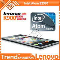 5.5 Android 2G Original Lenovo K900 5.5'' 1920x1080p Gorilla Glass 2GB RAM 13mp Intel Atom Duel Core Phone Android 4.2 Russian Multi Language