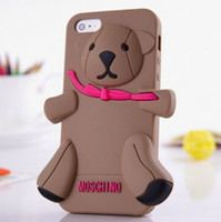 Moschino Baby Bear dimensional teddy bear cute cartoon silic...