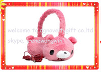 Wholesale fashion headphone with cute bear pattern for iphone