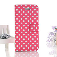 Korean cute leather Polka Dot sleeve sweet turn around cute ...