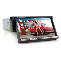 1 DIN car DVD - 7 inch Din TFT Screen In Dash Car DVD Player With Bluetooth iPod Input RDS TV