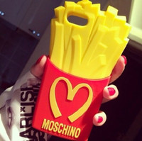Moschino McDonald's fries cute cartoon silicone Case Cover f...