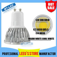 Wholesale Epacket Dimmable Led COB Lamp W W E27 GU10 E14 GU5 V MR16 V Led Light Spotlight led bulb downlight lighting bulbs