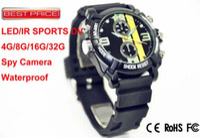 Wholesale Elegant GB Spy Watch Hidden Camera Hours LED IR Night Vision P HD Waterproof Sports DV DHL
