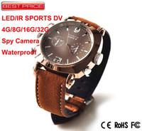 Wholesale P New Mini sports dvr HD p spy hidden camera watch with LED Light Waterproof GB GB GB DHL