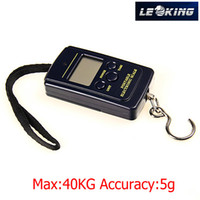 Cheap 2pcs lot 40kg 5g Portable Mini Electronic Digital Scale Hanging Fishing Hook Pocket Weighing Scale Free Shipping