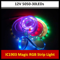 Wholesale 5M Magic Dream Color Color Modes RGB LED Light Strip IC V Waterproof SMD LEDs