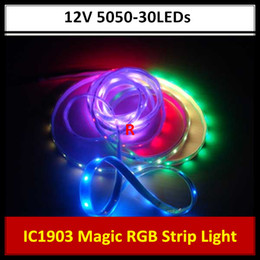 5M Magic Dream Color 133 Color Modes RGB LED Light Strip 1903 IC 12V Waterproof SMD 5050 150LEDs