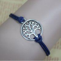 best life - wish tree bracelet antique silver wish tree pendant Leather Bracelet Best Chosen Gift Personalized tree of life