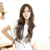 Wholesale New Arrival fluffy Oblique bangs Wigs Fashion Party non mainstream Sexy Long curly Cosplay women s Girl Hair Full Wigs L04101