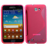 n7000 case - Pink Purple S SHAPE TPU Gel Case Skin Cover Protector For Samsung Galaxy Note i9220 N7000