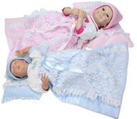Boys Birth-12 months PVC 55CM 3 4Head hands Silicone baby toys for children dolls For girls reborn baby doll Children's Day Birthday gift Free shipping