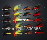 other Artificial Bait River 40Pcs Tube Flies Cone Heads Black Red Green Salmon And Sea Trout Fly Fishing Flies Lures