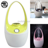 Wholesale Unique Moisture Anion Mini Humidifier Mist Maker Fogger with USB Connection Cable Light Green