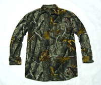 Camping & Hiking Polyester Men Biomimicry bust Camouflage thin fleece long-sleeve shirt lengthen