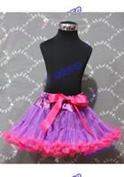 Cheap 2014 summer short skirts Dark Purple Hot Pink FULL Teen Adult Pettiskirt Pageant Dance Dress Tutu 0-9Y