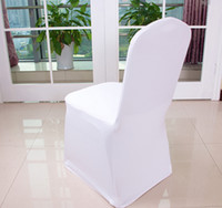 Wholesale 2015 new white Lycra Spandex Wedding Chair Covers WHITE for wedding party decor
