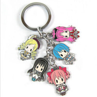 Wholesale Animal Anime Puella Magi Madoka Magica Metal Figure Keychain pendants For Christmas Gifts