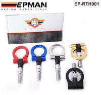Compra Carreras de plata-EPMAN - Billet Aluminio Universal Racing Tow Gancho para el coche de Japón (Bule / Rojo / oro / Negro / plata) EP-RTH001